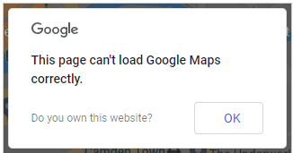 Google maps error